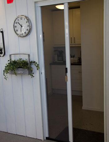 myggnät för dörrar med kedja och låg list